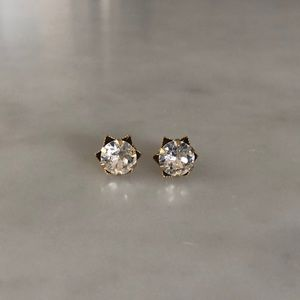 Anthropologie Crystal and Gold Earrings